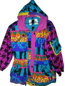 OBERMEYER Vintage 80s Coat Colorful Size 10/12